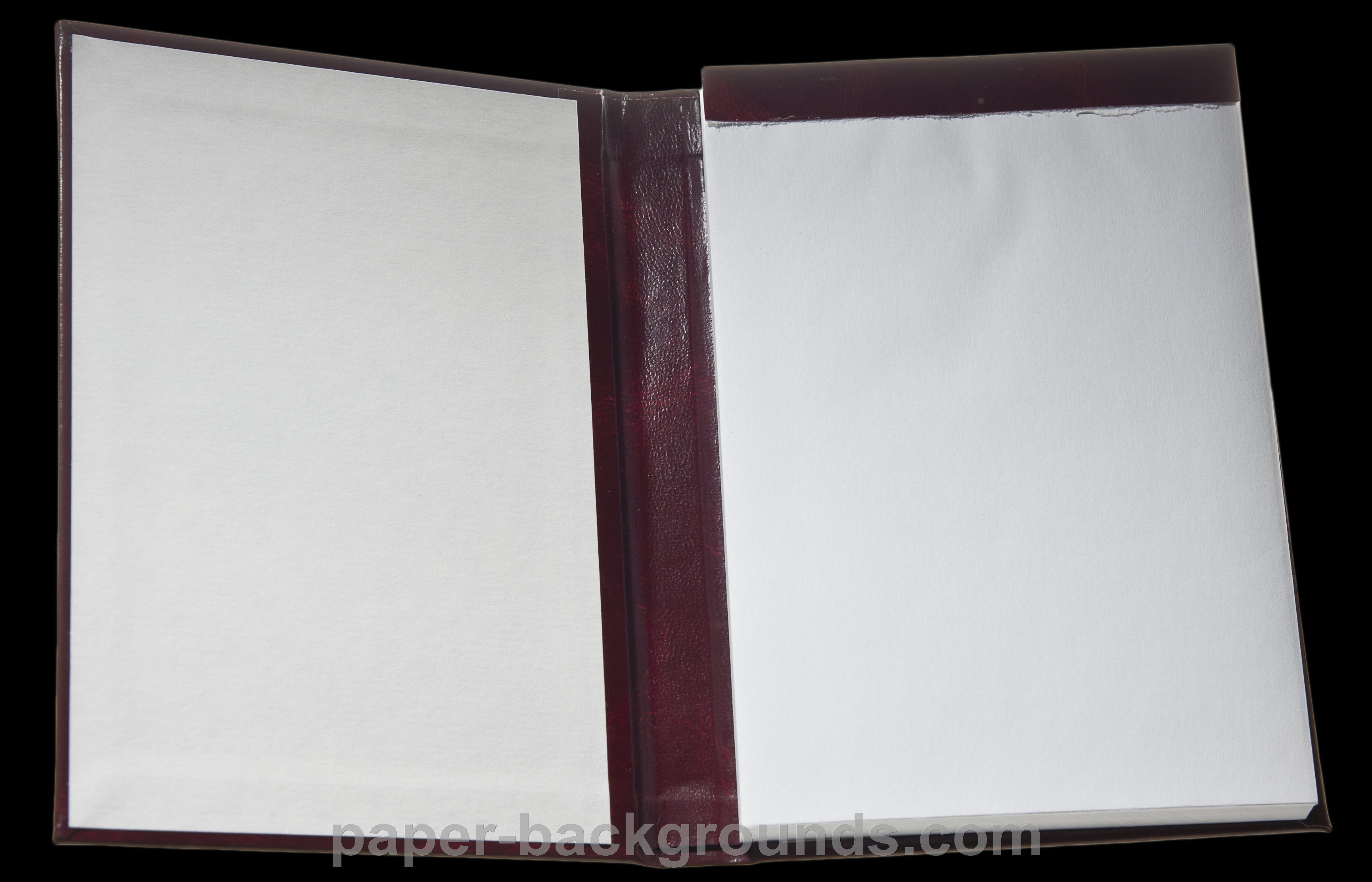 Open Notebook Paper Transparent Object