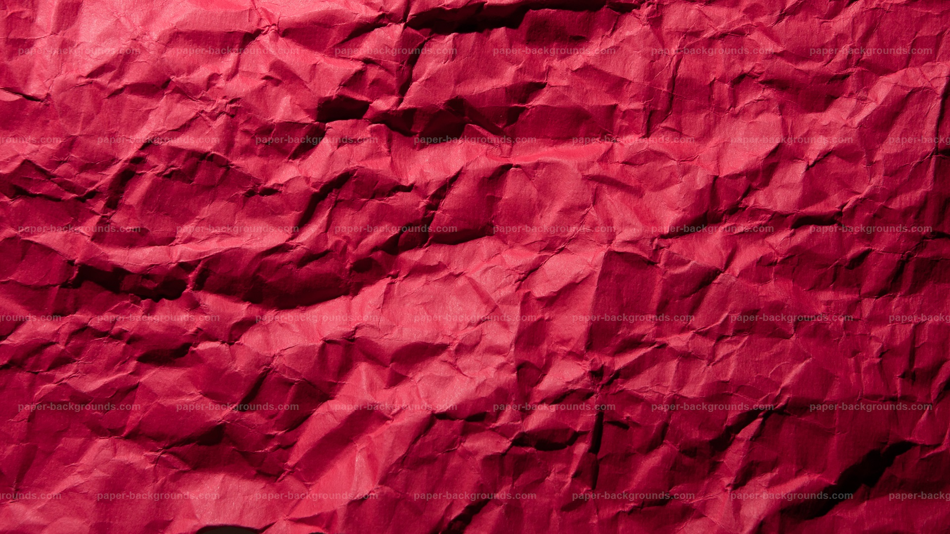 Crimpled Red Paper Texture HD