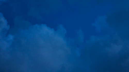 Dark Blue Sky Clouds Texture HD