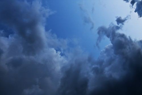 Dark Sky Clouds Background