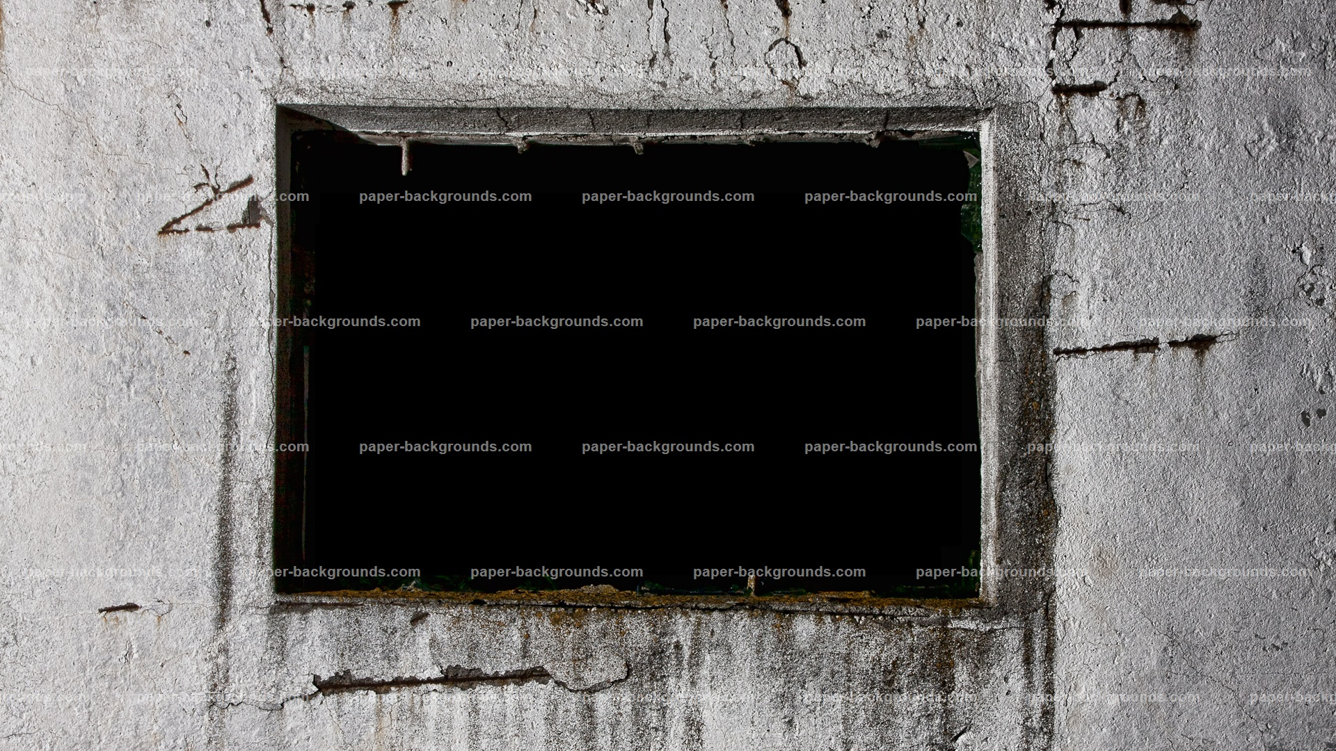 Grunge Concrete Wall Window Frame HD