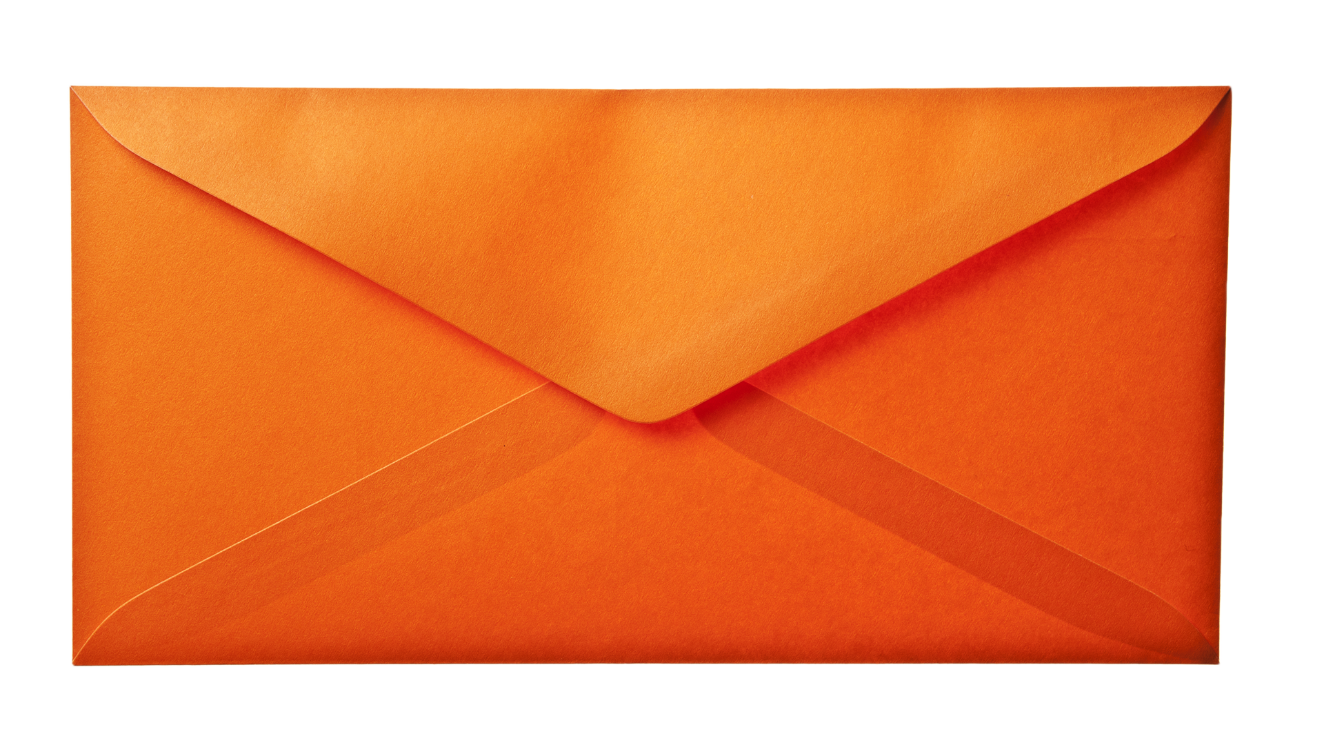 Orange Envelope Paper Background Layer HD