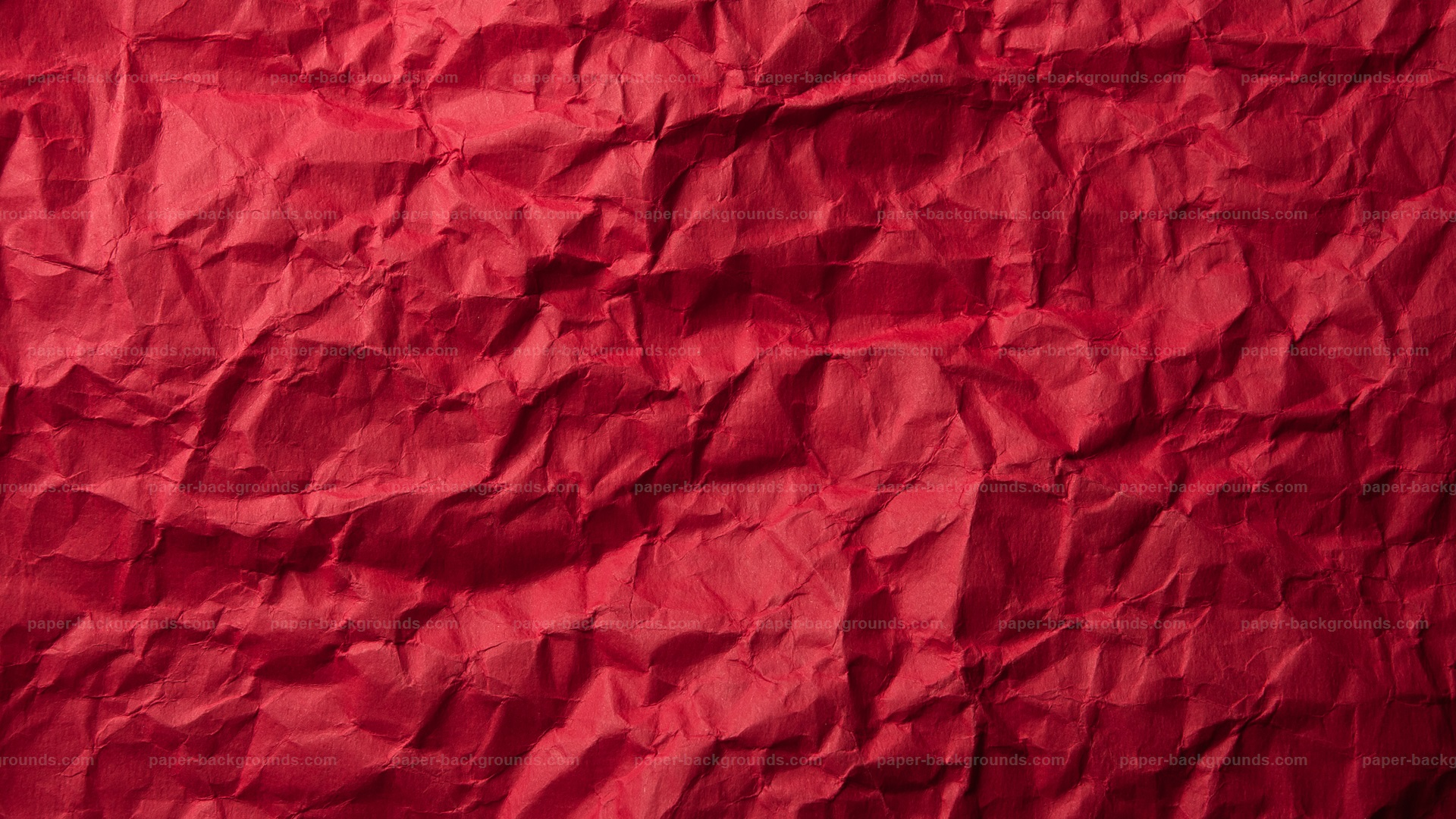 Red Crumpled Paper Background Soft Light HD