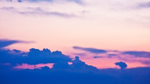 Sunset Sky Clouds Background HD
