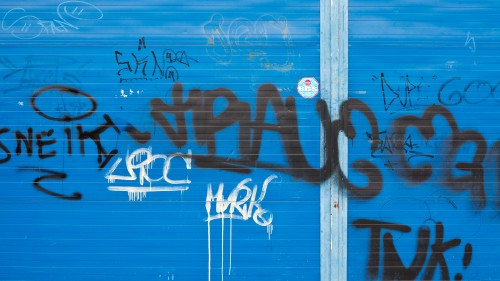 Blue Panel Graffiti Background