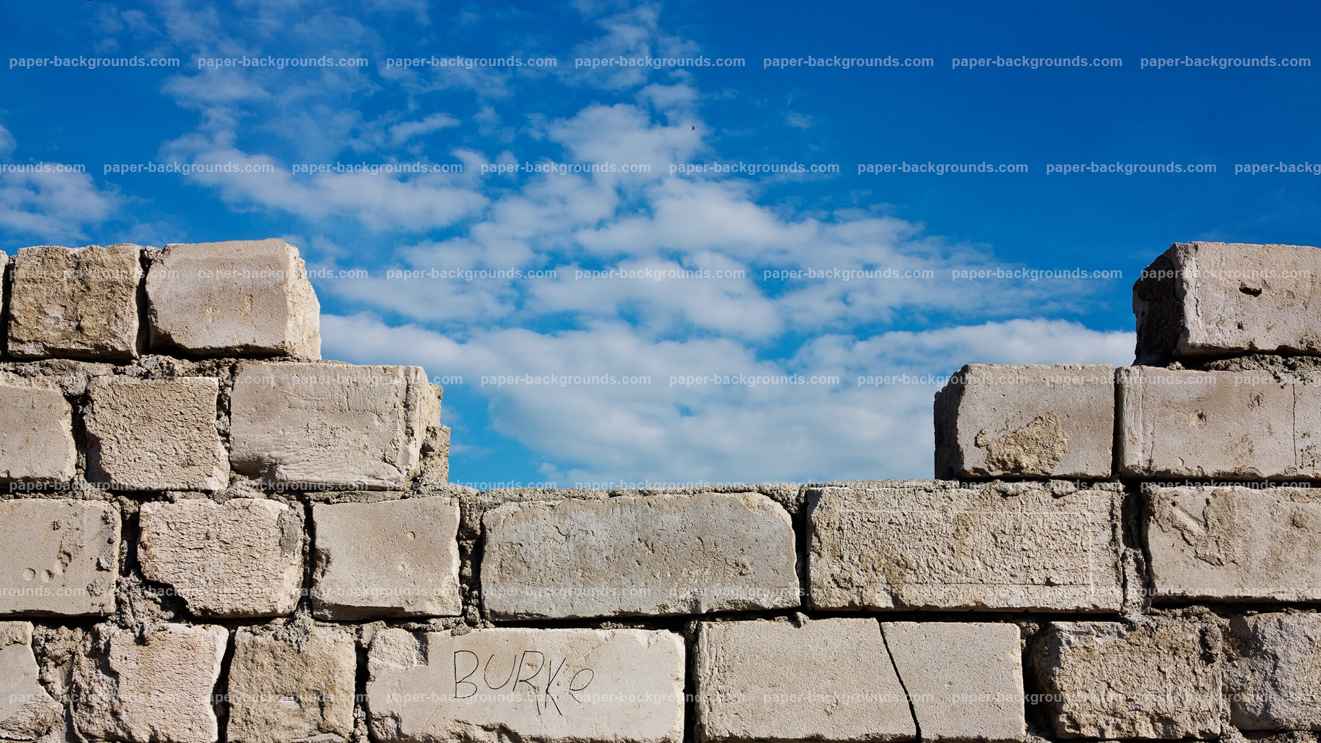 Brick Wall Clouds HD