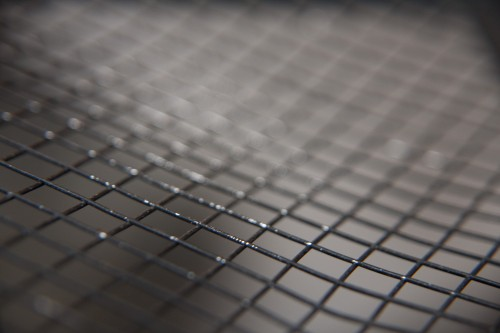 Close-up Mesh Metal Grille