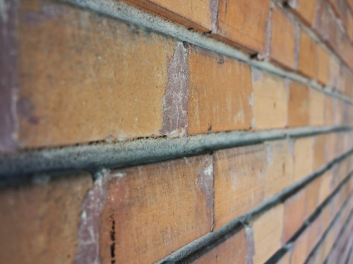 Focus Close-up Brick Wall Background