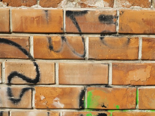 Graffiti Bricks Texture