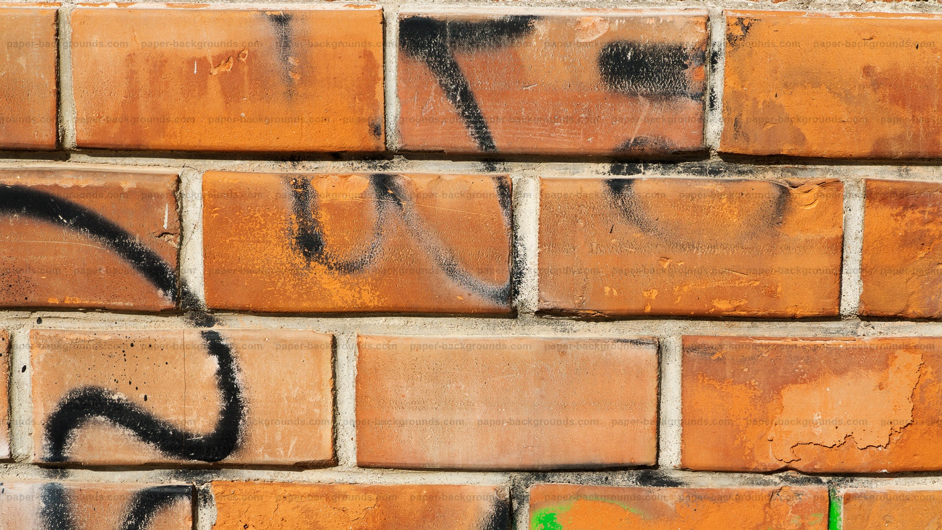 Graffiti Bricks Texture HD