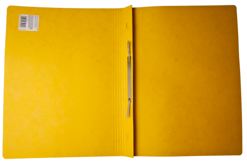 Open Yellow Cardboard Paper Folder