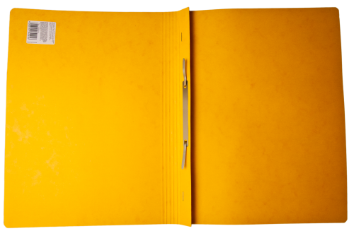 Open Yellow Orange Cardboard Paper Folder HD
