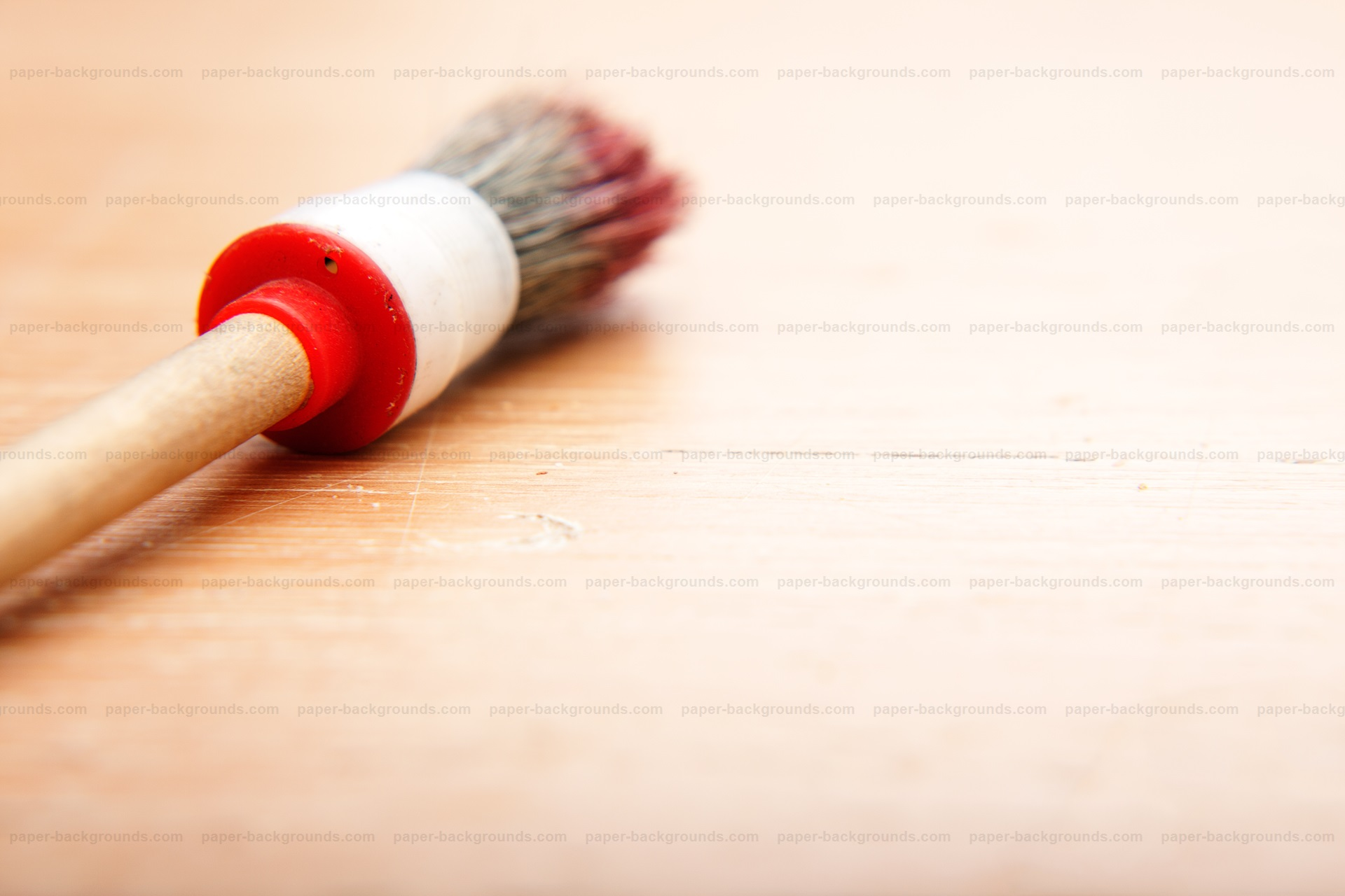 Paint Brush Close-up Macro on Table HD