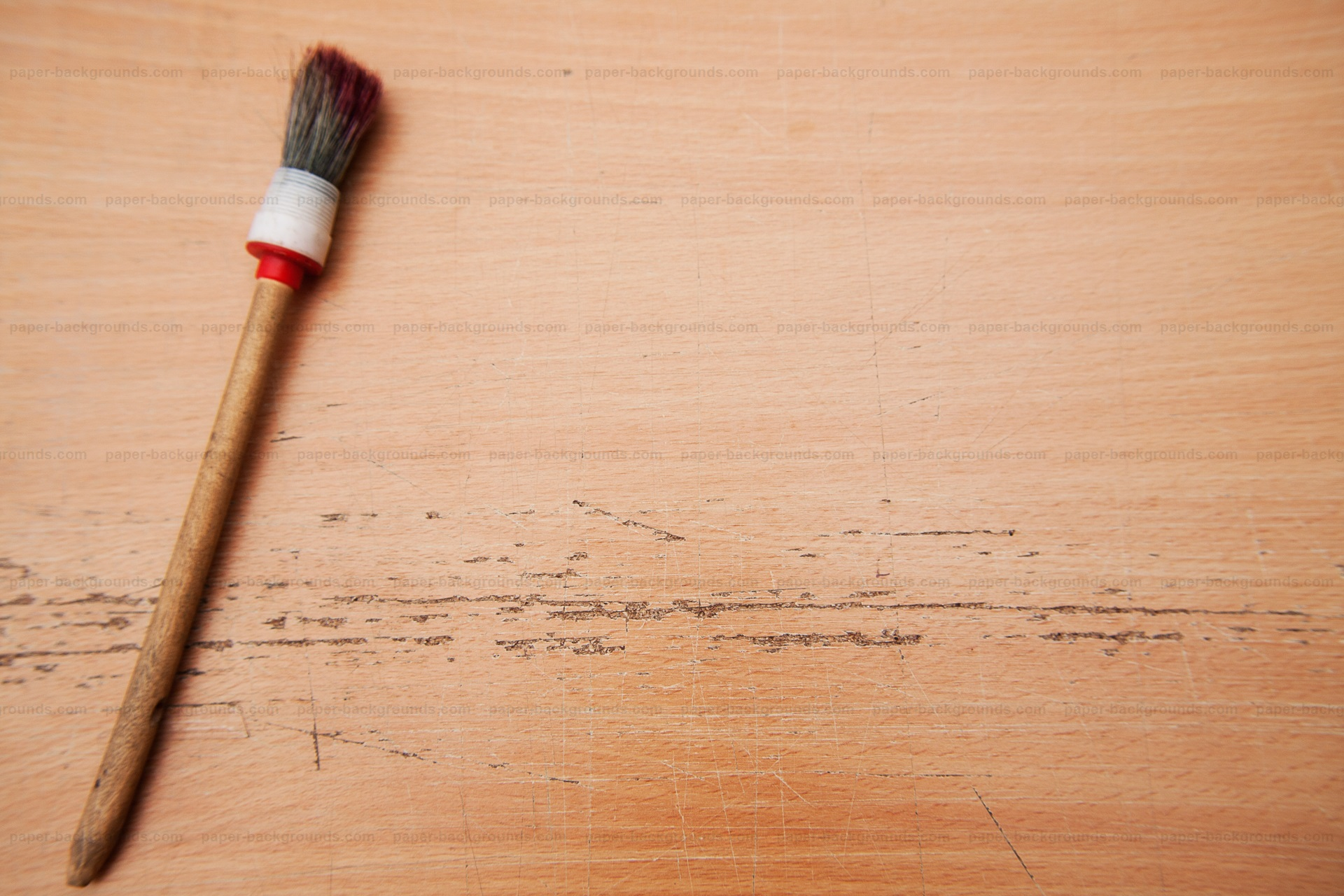 Paint-Brush on Table Mockup Background HD