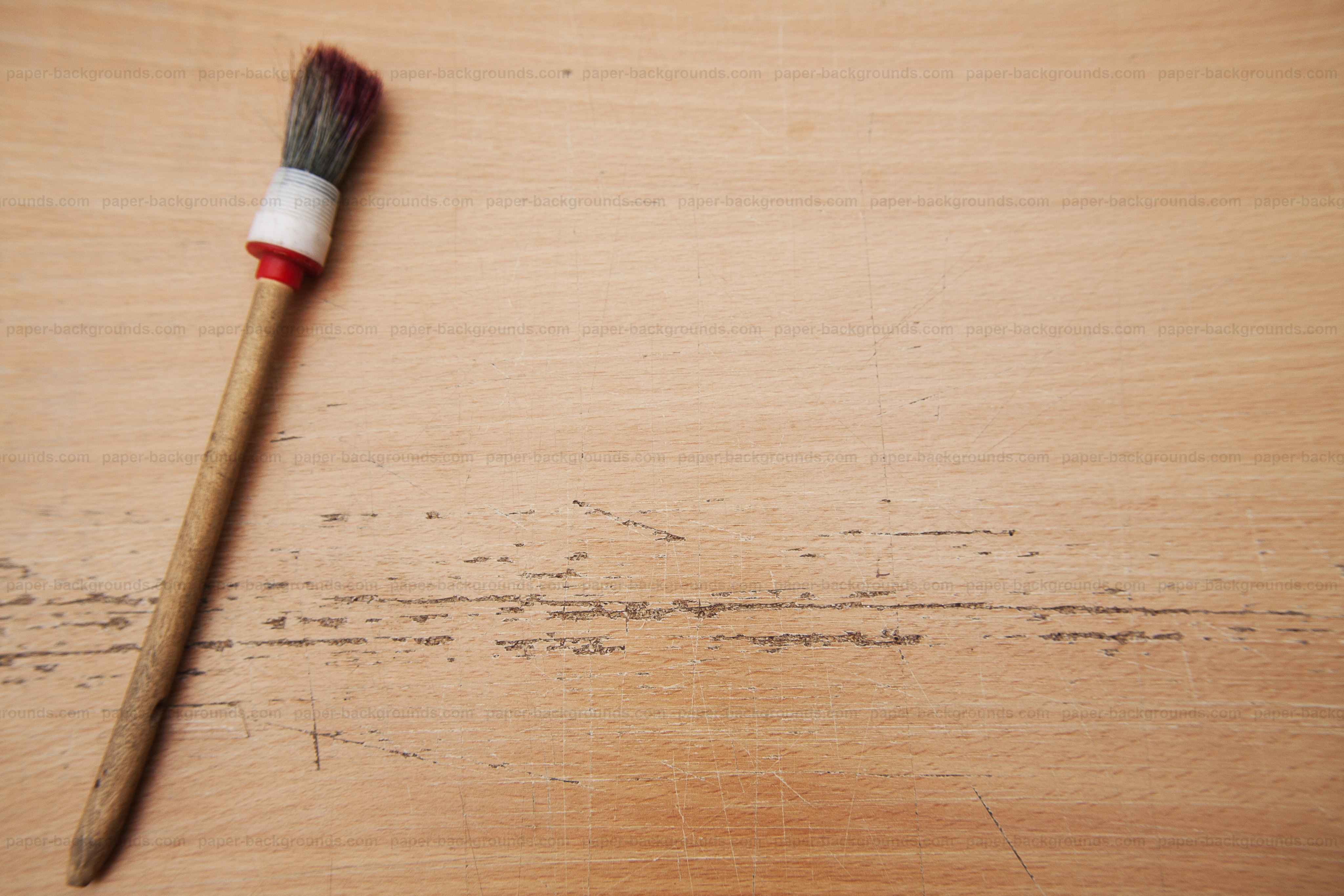 Paper backgrounds paint brush on table mockup background for Table background