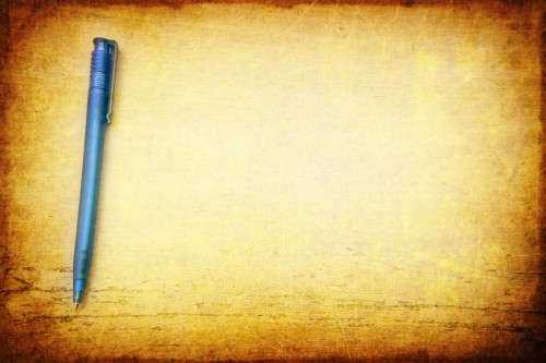 Pen on Table Vintage Background