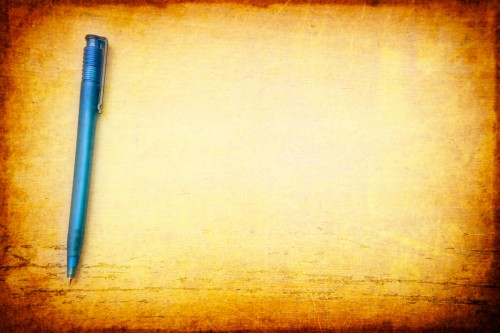 Pen on Table Vintage Background HD