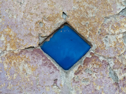 Rough Painted Wall with Blue Stone HD