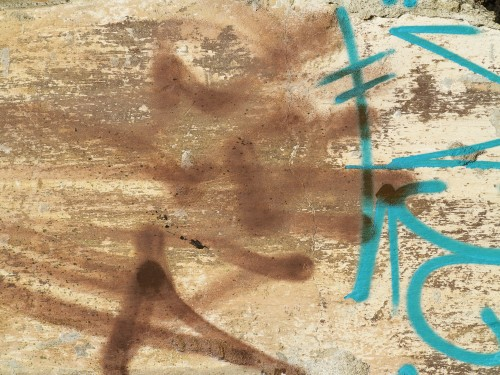Rusty Graffiti Wall Background