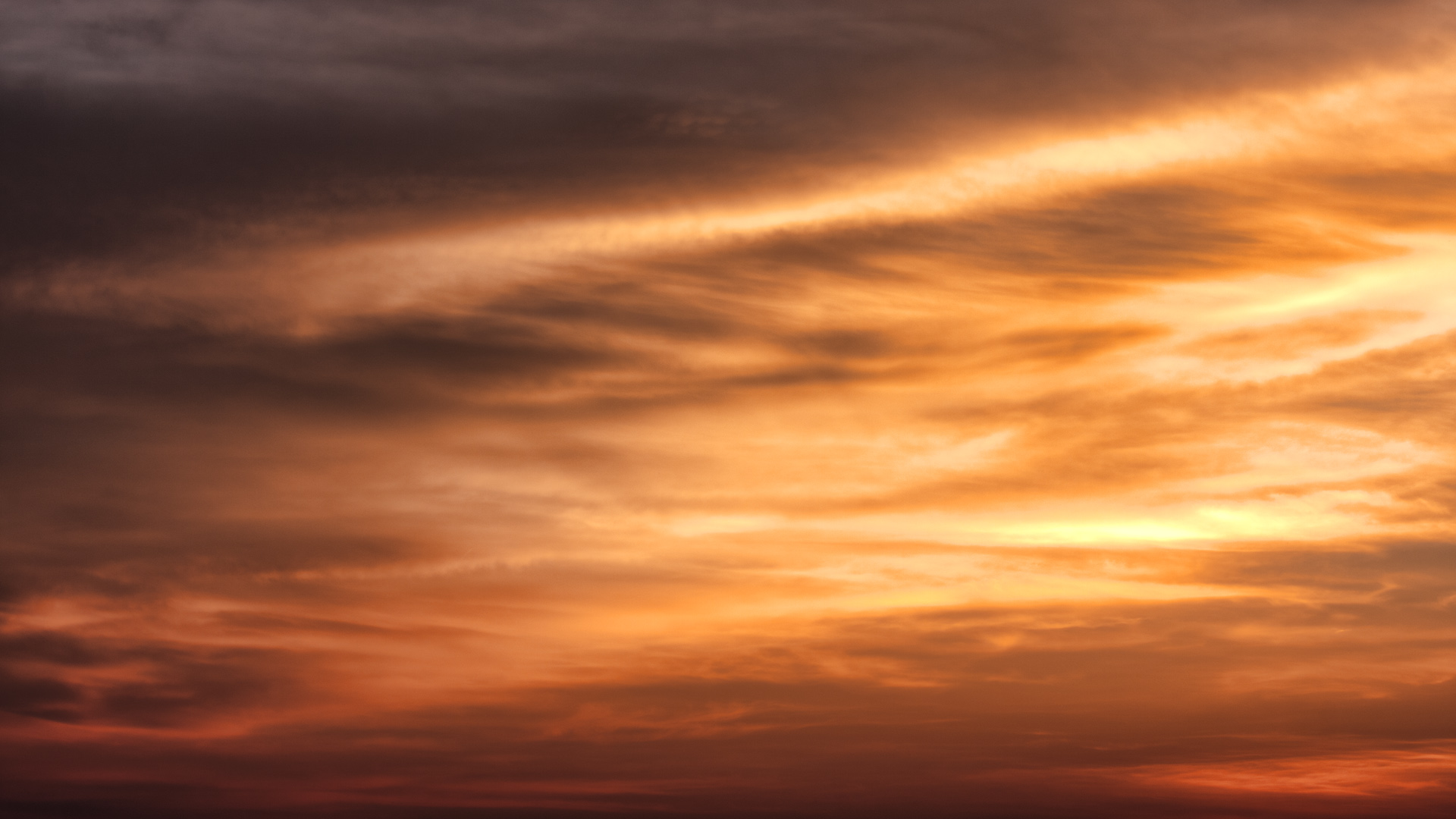 Sunset Dramatic Sky Clouds Background HD