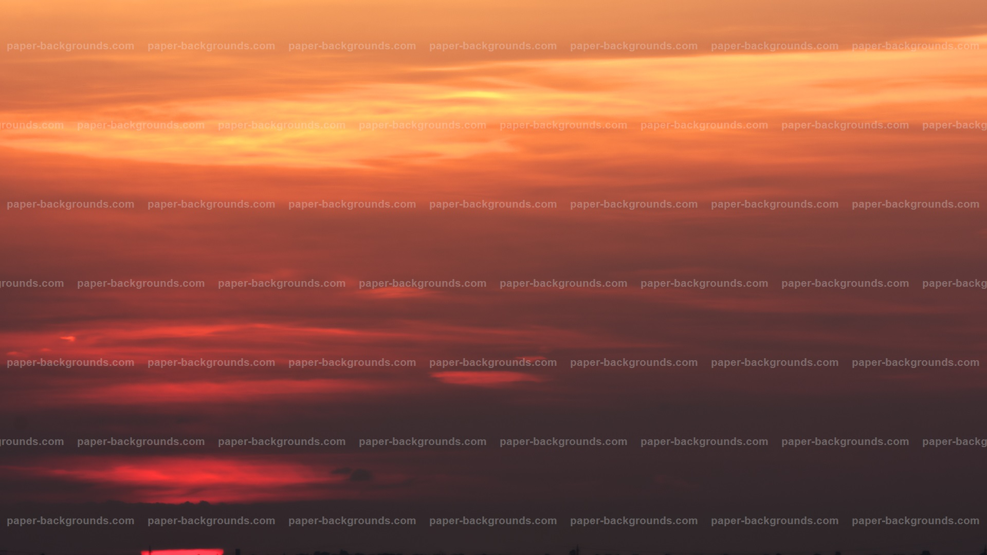 Sunset Sky Red Clouds HD
