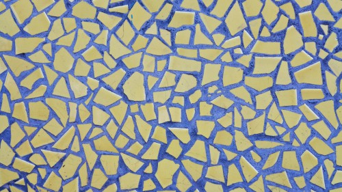 Yellow Blue Marble Puzzle Pieces Wall HD