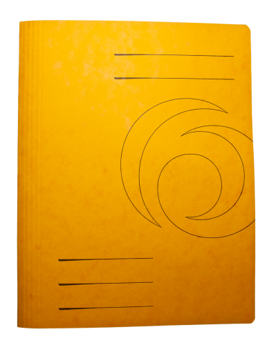Yellow Folder Cardboard Paper HD