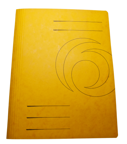 Yellow Folder Cover Cardboard