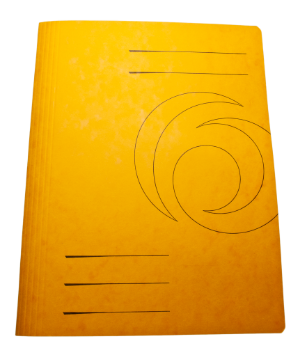 Yellow Folder Cover Cardboard HD