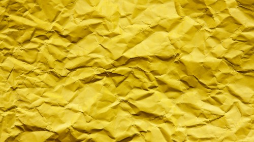 Yellow Wrinkled Paper Texture, Full HD Resolution 1920 x 1080p