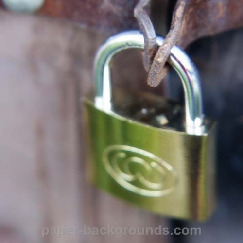Metal Gate with Lock Background