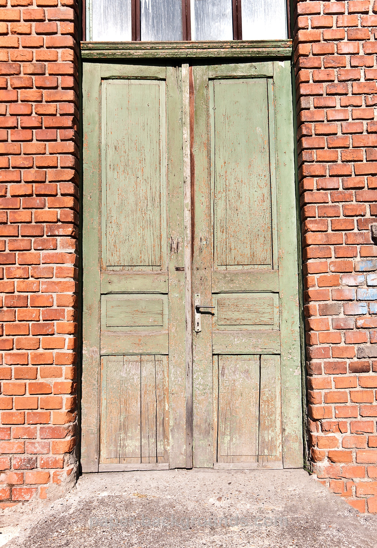 Old Wood Door Brick Wall HD