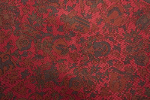 Red Fabric Chabby Patterns Background