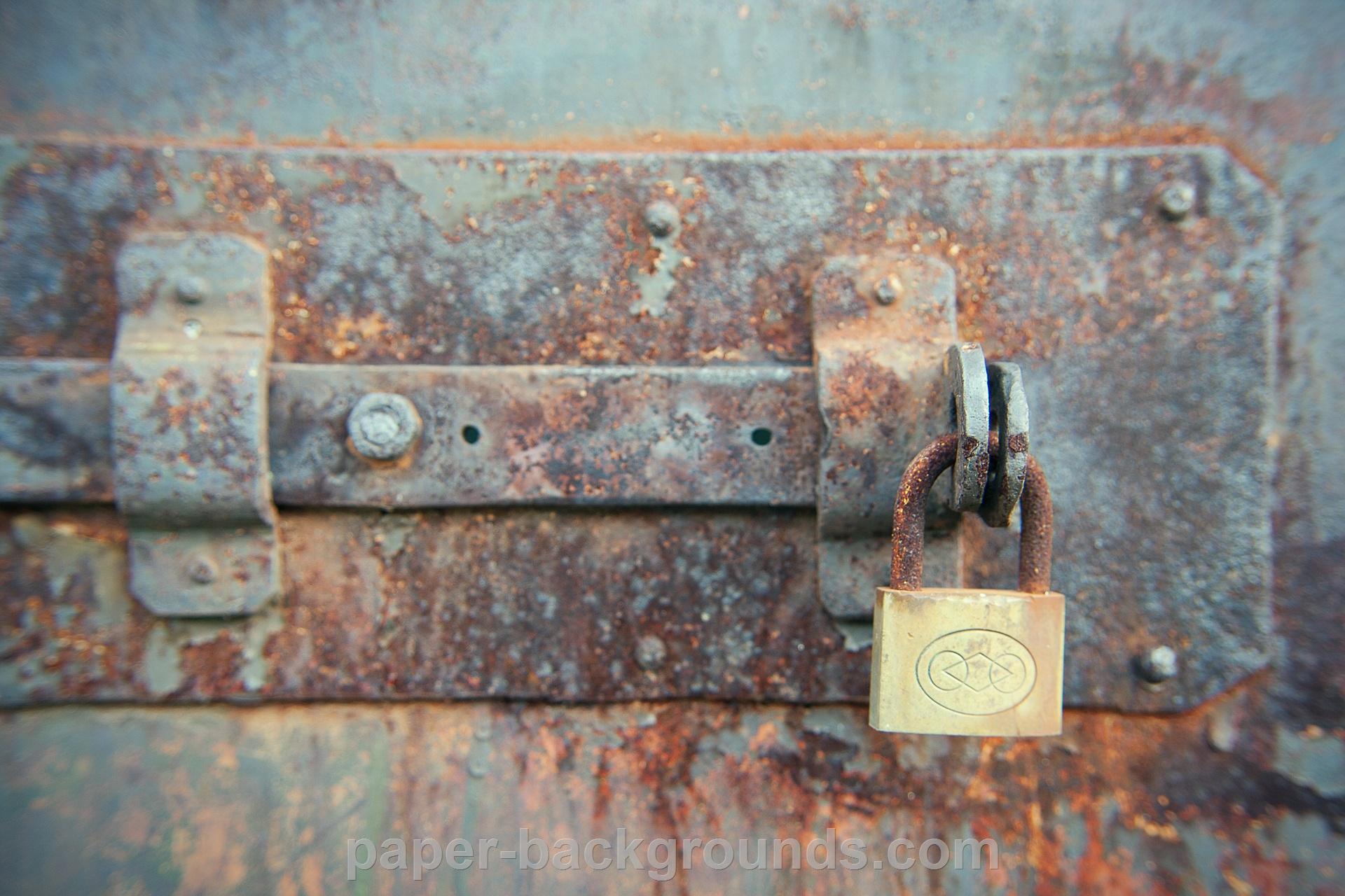 Locked Rusty Old Metal Door HD