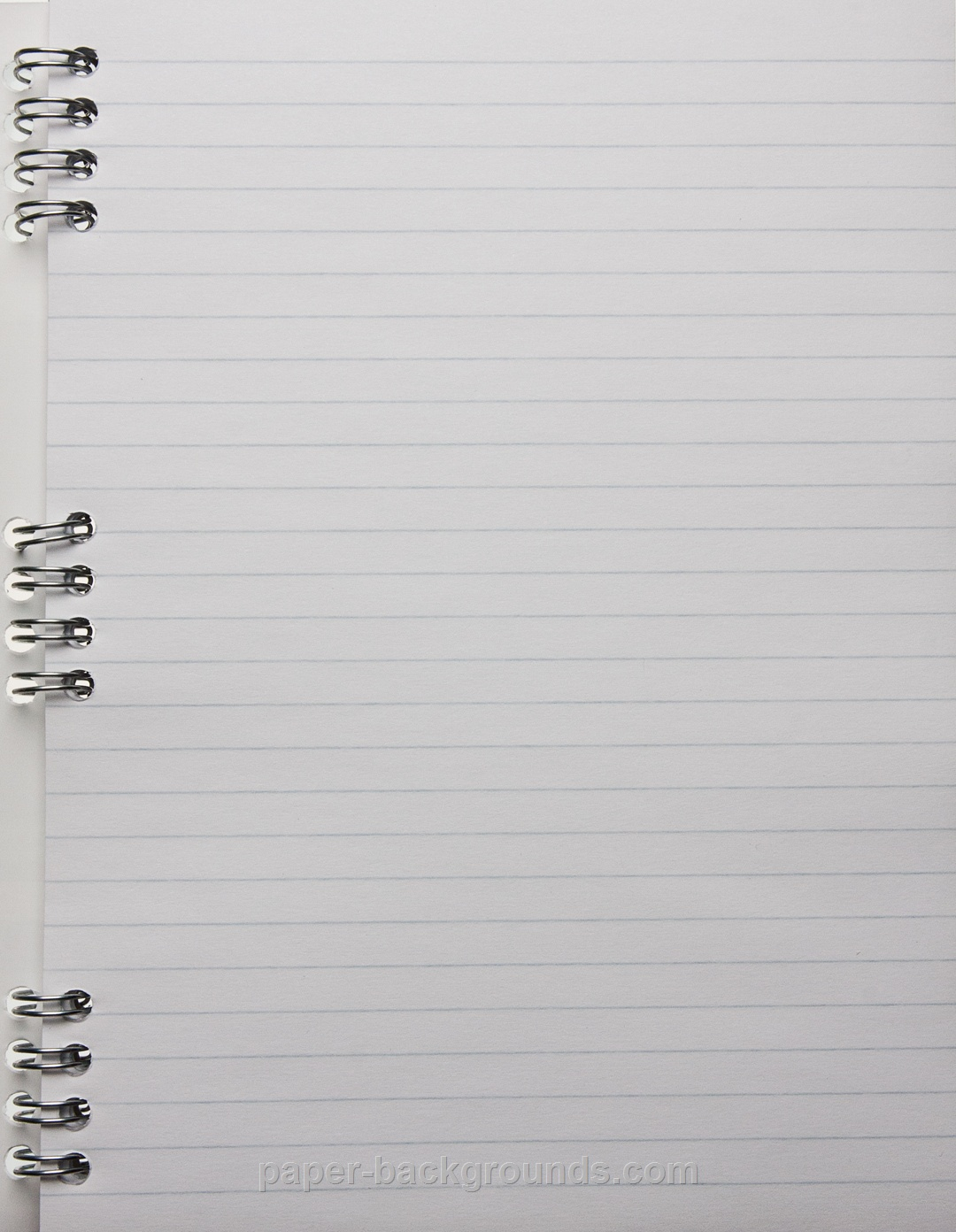Paper Backgrounds White Notebook Page With Lines