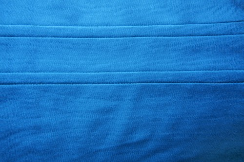 Blue Fabric Texture with Double Stitch