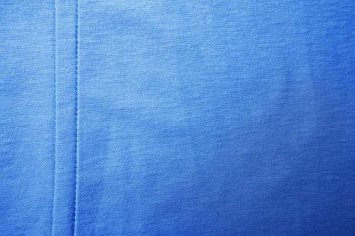 Blue Fabric Canvas Texture with Stitch