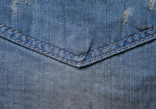 Blue Jeans Texture Pocket Stitch High Resolution