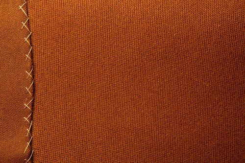 Brown Fabric Texture With Stitches High Resolution
