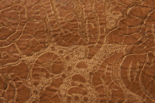 Brown Grunge Embossed Leather Texture