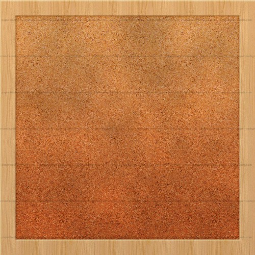 Cardboard Background With Wood Frame For Notes