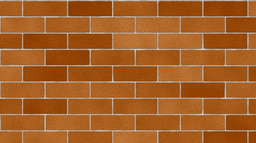 Clean Red Brick Wall Texture Background HD