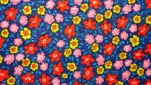 Colored Flowers Fabric Texture Background HD