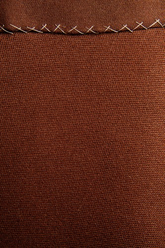 Dark Brown Fabric Texture With Stitch High Resolution