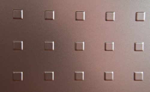 Embossed Squares Copper Metal Plate High Resolution