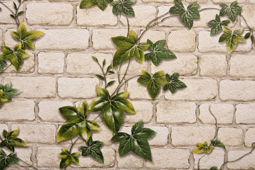 Light Brown Wall Carpet With Green Leaf High Resolution