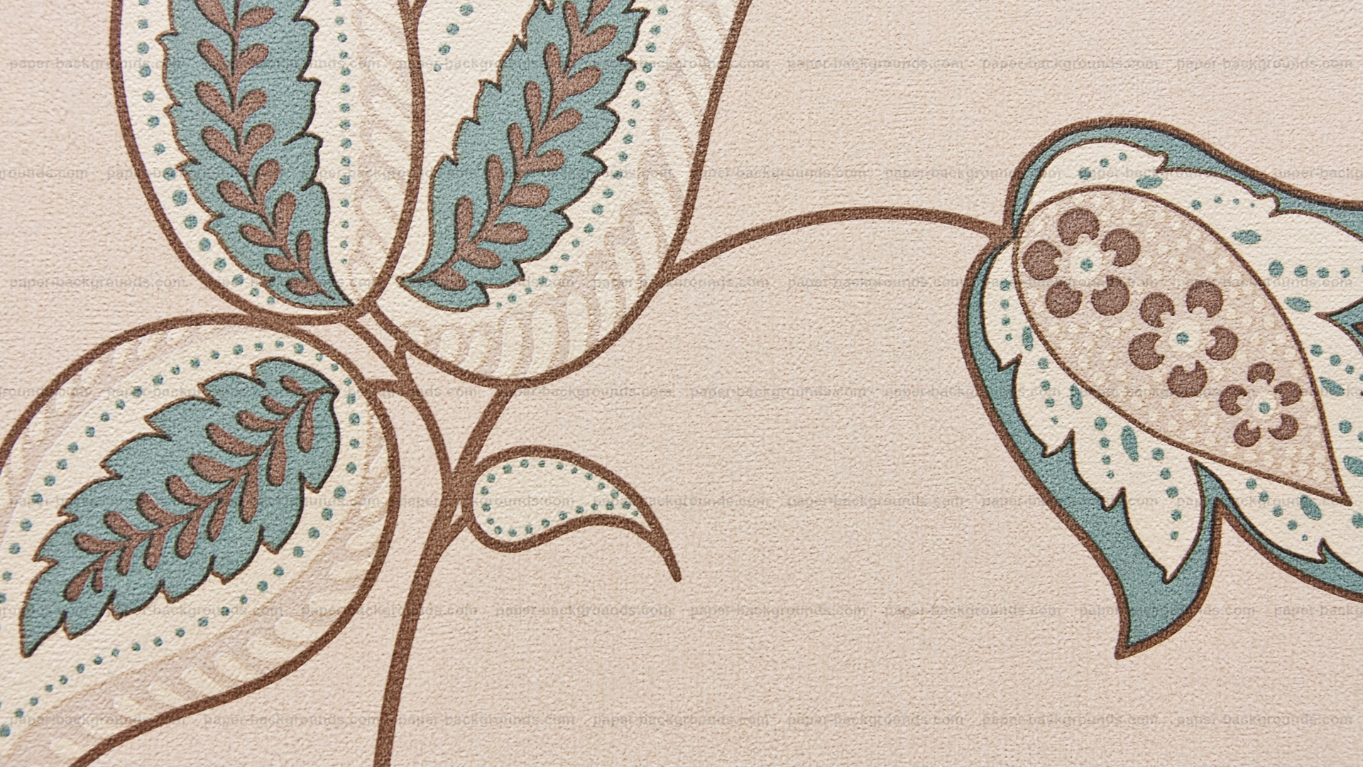 Light Brown Wall Texture With Vintage Pattern HD