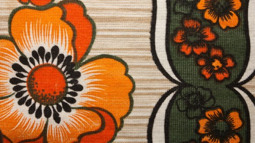 Orange Flower Fabric Texture HD