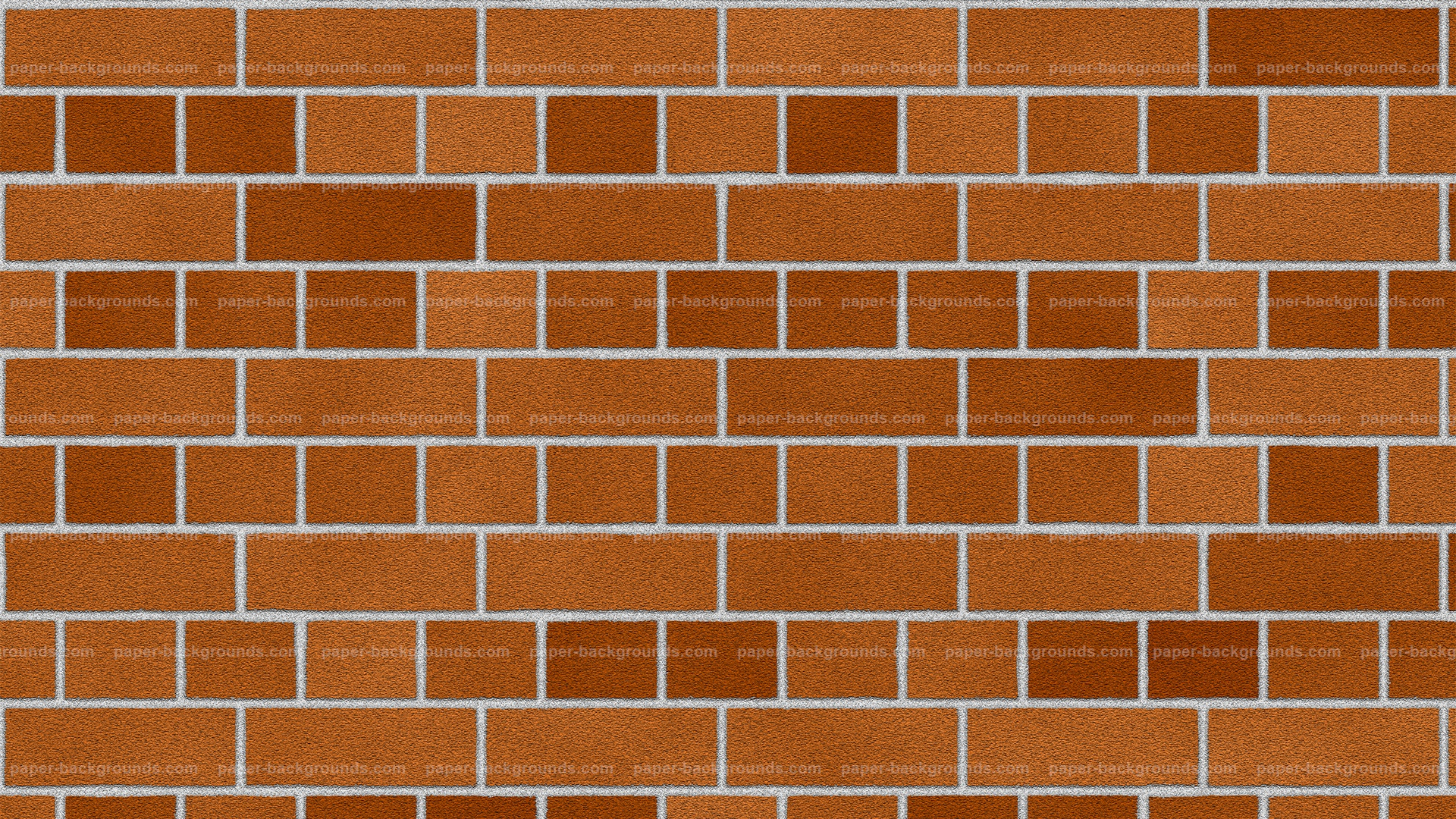 Orange Red Brick Wall Texture Background HD