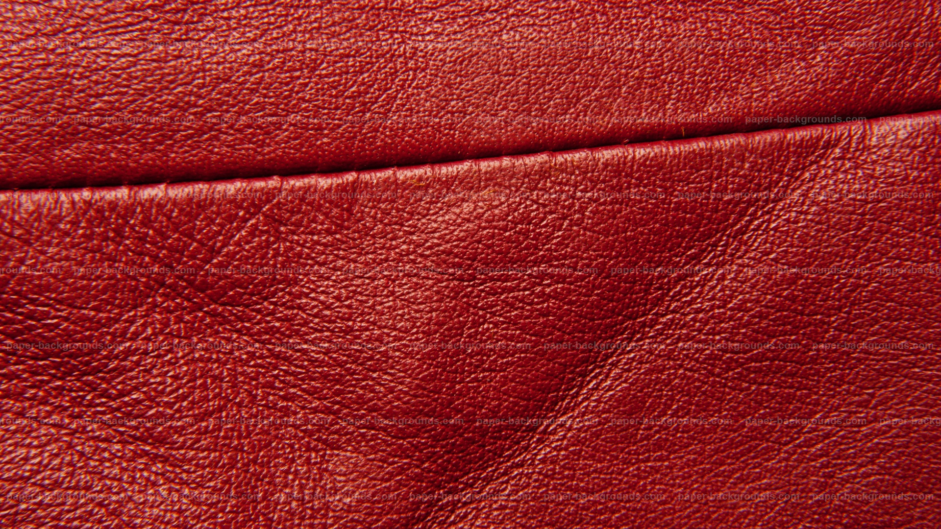 Red Leather Texture With Stitch HD